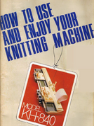 Buy your Brother KH840 Knitting Machine, User, Instruction, Manual, Handbook, Download Online at Bargain Box