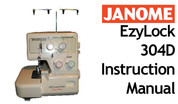 Buy your Janome New Home EzyLock 304 D Overlocker Serger Sewing, Machine, User, Instruction, Manual, Handbook, Online at Bargain Box
