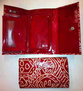 Buy your Leather Wallet Keringke - Medium in Red by Bridgett Wallace at Bargain Box