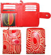 Buy your Small Leather Wallet Red Iwantja Design - by Maringka Burton at Bargain Box