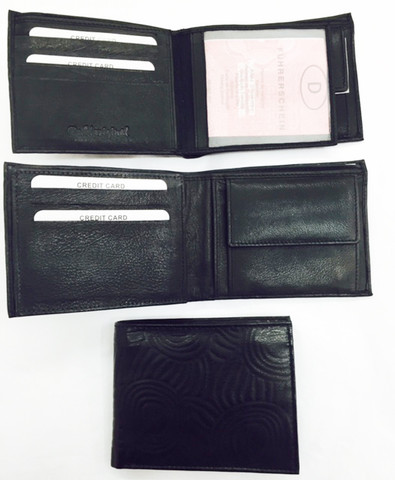 Buy your Iwantja Men's Medium Black Leather Wallet Iwantja Design - by Maringka Burton at Bargain Box