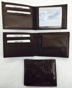 Iwantja Men's Medium Brown Leather Wallet Iwantja Design - by Maringka Burton at Bargain Box