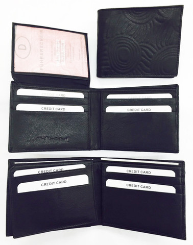 Buy your Iwantja Men's Small Leather Wallet Black Iwantja Design - by Maringka Burton at Bargain Box