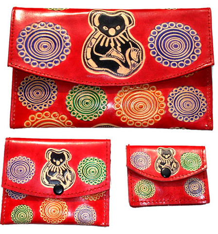 Buy your Leather Purse Set Baribunma Koala by Pam Hall at Bargain Box