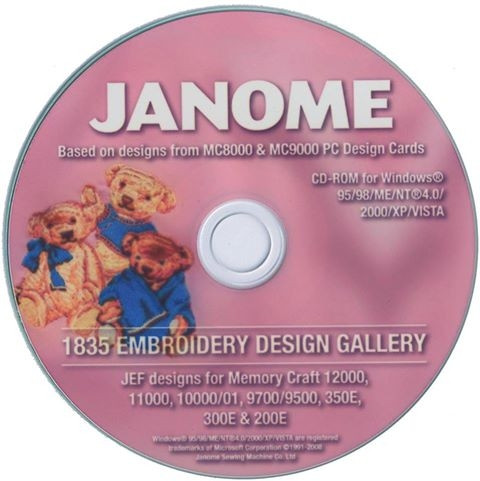 Buy 1835 Janome Embroidery Designs In Jef Format Online At