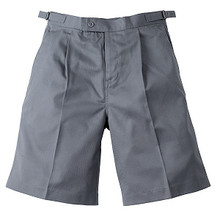 Midford Boy's School Uniform Tab Shorts 9904L Khaki Grey Navy