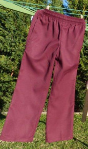 Scags Girls Elastic Waist  Pants Maroon