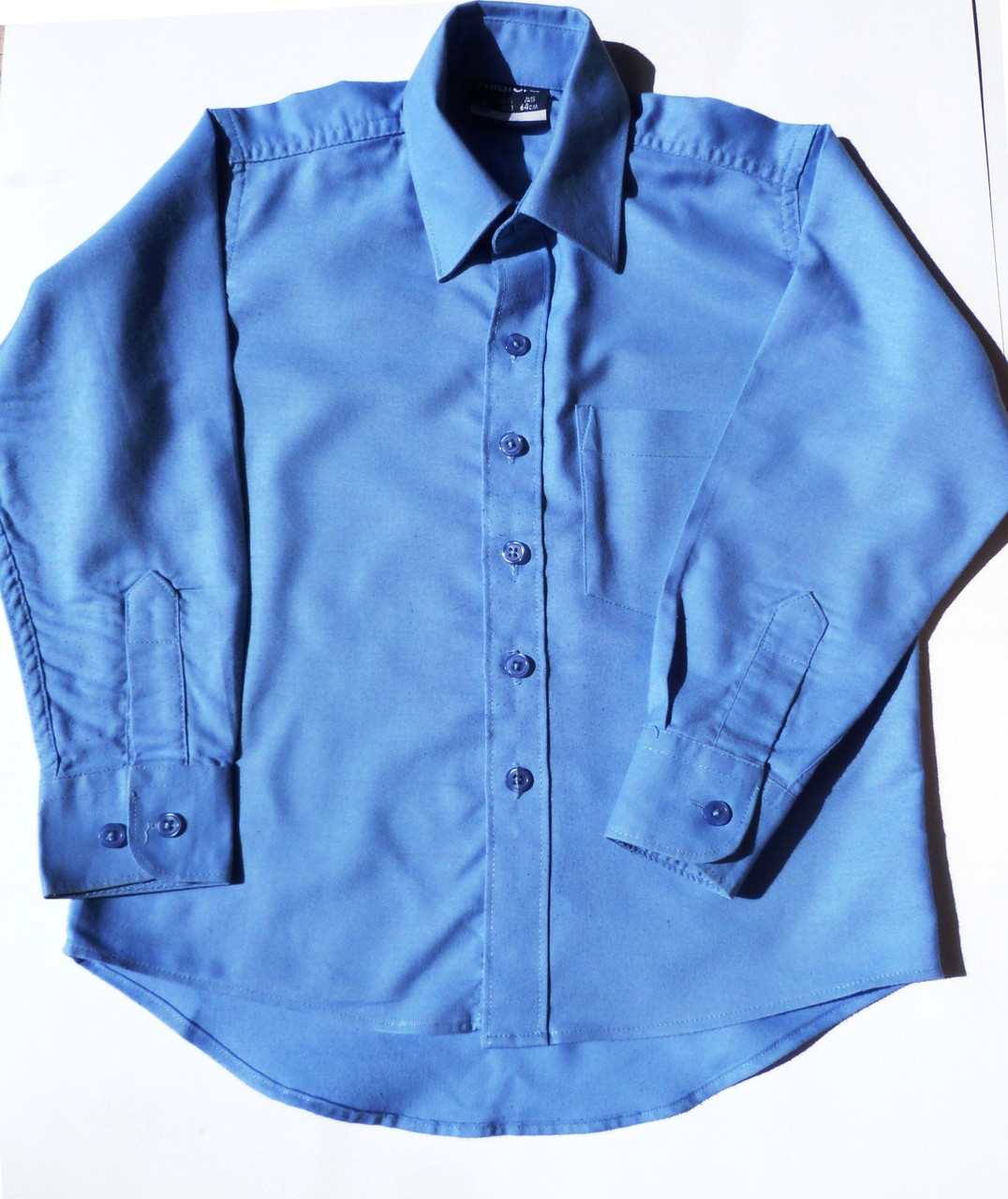 ecefbe41b51eb9 Midford Boys Long Sleeve Blue Shirt Brushed Cotton - Dressed For School