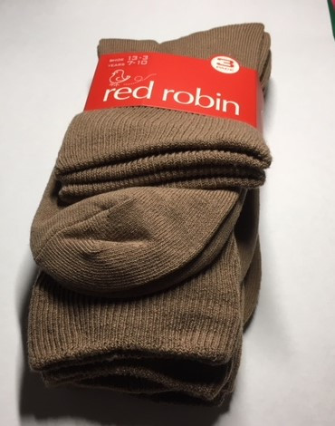 Red Robin School Socks Fawn Pack of 3 on sale