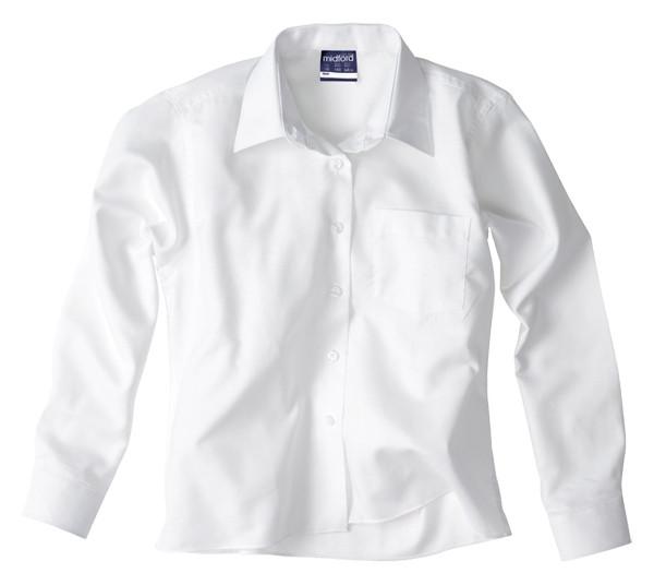 026179a2a Midford Girl s Long Sleeve White Shirt Brushed Cotton - Dressed For ...