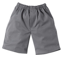 Midford Grey Elastic Waist Basic School Uniform Shorts 9910