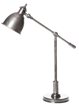 Vermont Antique Silver Bell Adjustable Desk Lamp