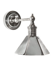 Mayfair Antique Silver Wall Lamp