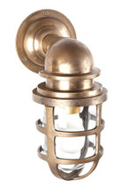 Porto Antique Brass Wall Lantern
