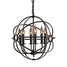 Replica Foucault's Iron Orb Chandelier