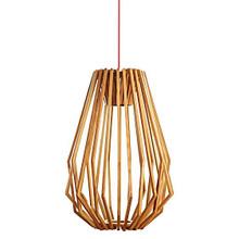 Nordic Tall Wood Nest Pendant Light