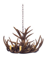 Antler 6 Arm Natural Chandelier