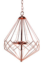 Portland Copper Plated Wire Pendant Light