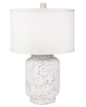 Santa Fe White Washed Polyresin Table Lamp