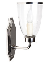 Westbrook Nickel Glass Shade Wall Light