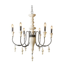Taupe And Cream Chandelier