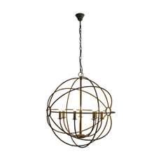 Large Taupe Iron Orb Chandelier 90cm