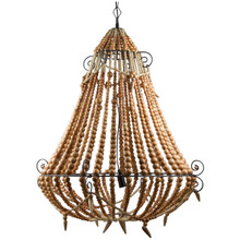 Beaded Chandelier - Natural - Large
