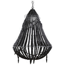 Beaded Chandelier - Black