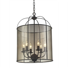 Old World 6 Candle Light Pendant Chandelier