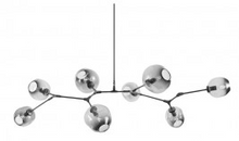 Replica Branching Bubble Chandelier - 8 Light - Black and Smoke