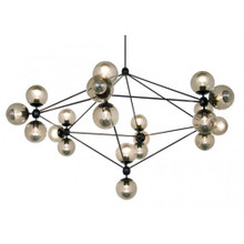 Replica Jason Miller Modo 21 Bulb Chandelier - Black - Smoke