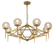 Roman 8 Light Gold Chandelier