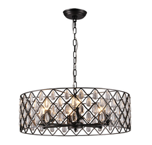 Emily 6 Light Round Pendant Chandelier