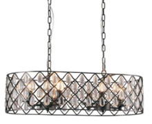 Emily 8 Light Rectangle Pendant Chandelier