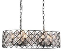 Emily 8 Light Rectangle Pendant Chandelier