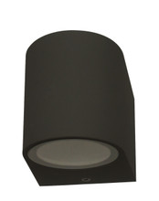 Round Downwards Exterior Wall Light - Black