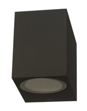 Square Downwards Exterior Wall Light - Sand Black