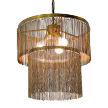 BRASS METAL CHAIN CHANDELIER