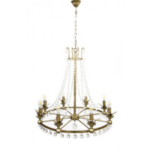 Rococo 8 Light Antique Silver Chandelier