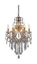 Raphael Antique Silver 6 Light Chandelier