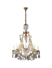 Linoges Bronze Crystal 8 Light Chandelier