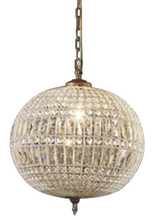 Palermo Glass Metal Chandelier