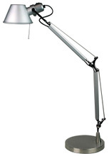 Moda Reto Adjustable Desk Lamp-Silver