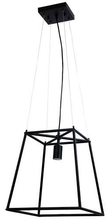 Black Tubular Pendant Light