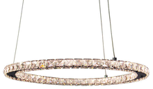Crystal Chrome Ring LED Pendant Chandelier