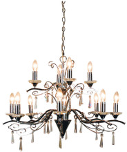 Faranca 12 Light Chrome Crystal Chandelier