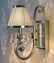 Luxuria 1 Light Wall Lamp in Shimmer Grey