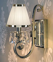 Luxuria 1 Light Wall Lamp in White