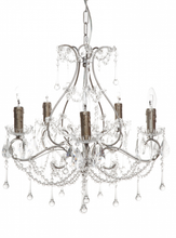 Houston 5 Arm Antique Silver Chandelier
