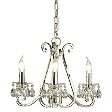 Luxuria 3 Light Candle Chandelier with No Shades